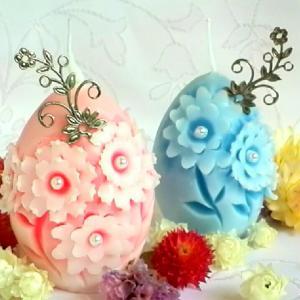 卵型とボール型のカービングキャンドルレッスンと販売