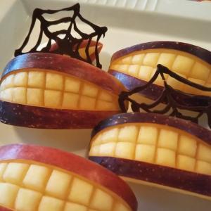 ハロウィーン 簡単りんごカービング おやつ