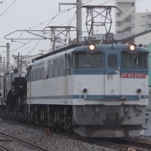 2021年06月20日国鉄EF65形1000番台電気機関車+国鉄シキ800形貨車