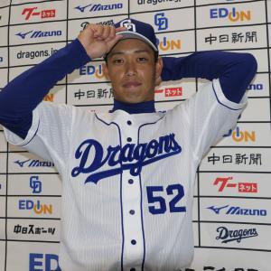 中日にトレード移籍の加藤翔平が入団会見「名古屋はご飯がおいしいというイメージ」