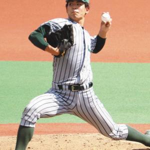 中日ら10球団がJR東日本・山田龍聖投手を視察