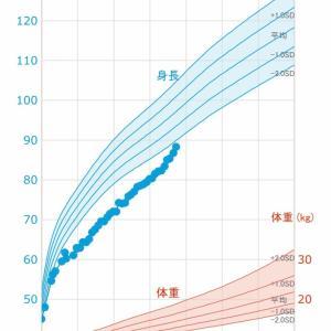 次女の成長曲線グラフをつくってみた【低身長】