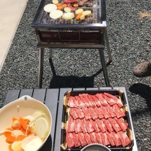 お庭でバーベキュー&Z会1年生4月号完了!