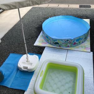 庭プール♪【夏休みをお家で楽しむ作戦その①】