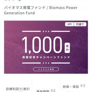 バイオマス発電ファンドに投資