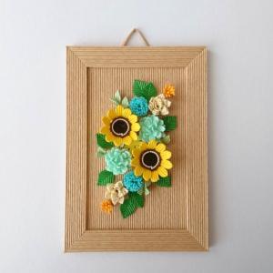 [479]  夏の壁飾り・ひまわり