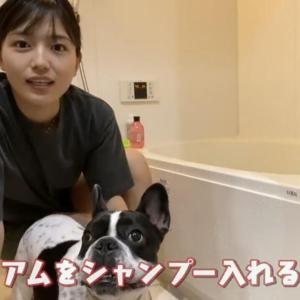 【166cm】川口春奈さん、愛犬をシャンプーするだけでいっぱい再生されてしまう♥