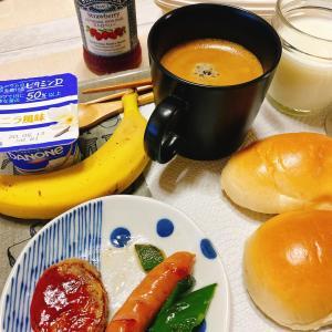 適当で雑な朝ご飯。この時に自分を見直さなきゃな~と。