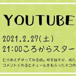 YouTubeライブは明日です♫