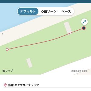 今日の5kmのタイムは23'43だった