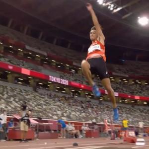 【陸上・男子走幅跳】橋岡優輝、8m17で予選一発通過!日本人37年ぶり五輪決勝へ