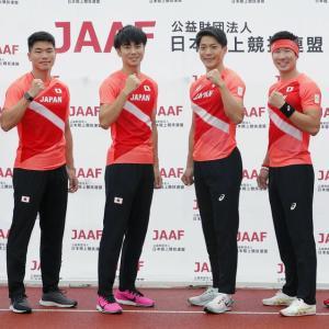 【速報】陸上男子4×100mリレー、日本は予選1組3位で決勝進出!