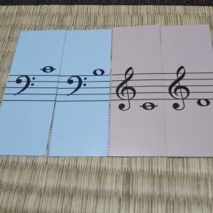 発達障害がある子への読譜のレッスン~色音符を使ったり音符カードを使ったり。