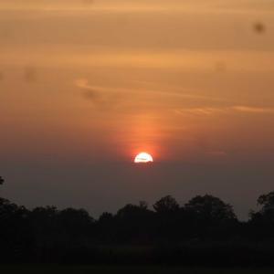 夕日のポタリング