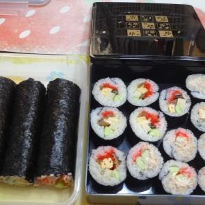巻き寿司とポタリング