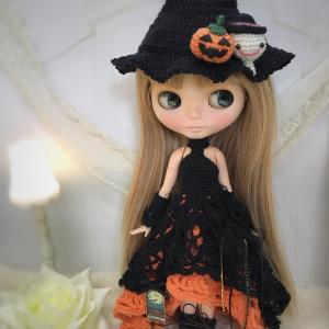 【出品情報】ブライス  ハロウィンのドレスセット  col. Halloween orange