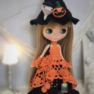【出品情報】ハロウィンのドレスセット ネオブライス  col. Halloween orange