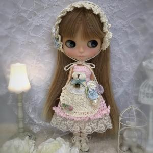 【出品情報】バブーシュカとくまちゃんポッケのドレスセット ゆめかわカラー