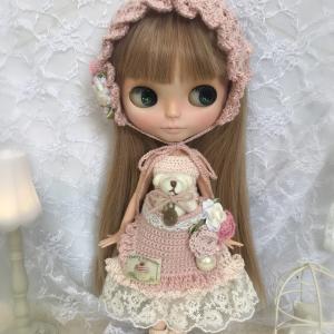 【出品情報】バブーシュカとくまちゃんポッケのドレスセット