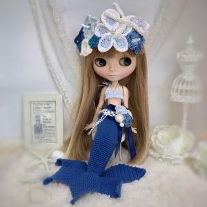 【出品情報】マーメイドのドレスセット ブルー ネオブライス ニット 服