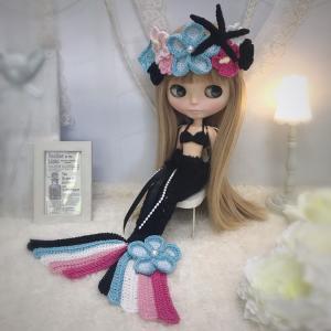 【出品情報】マーメイドのドレスセット col. Black & Neon ネオブライス 服