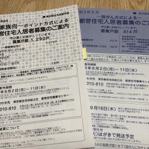 都営住宅の入居者募集 8月2日から