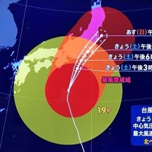 台風19号にお手上げ、、、