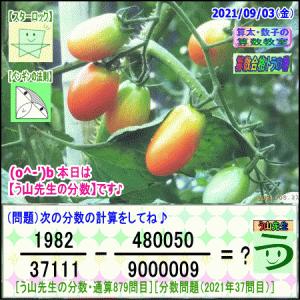 [う山先生・分数]【算数・数学】879問目【う山先生からの挑戦状】[2021年9月3日]