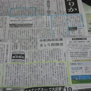 「徳島新聞に御礼」