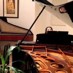 工事現場とピアノの練習
