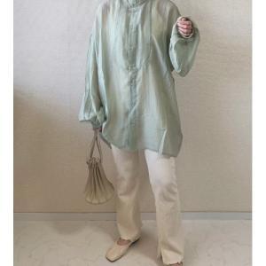 【娘の服】154cm人気インスタグラマー着用シアーシャツ・4wayニット・デニムをまるっと購入
