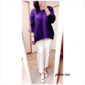 低身長設定普通~大きめサイズ展開ブランド1:Pierrot 高見えストレートパンツ購入&コーデ