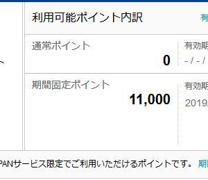 【順調】6,000Tポイントを無事ゲット(合計11,000Tポイント)