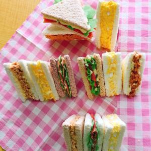 サンドイッチ作り〜(*´∀`)♪