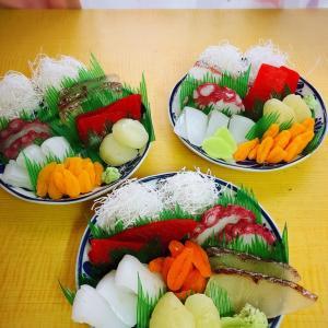 美味しそう!!お刺身盛り合わせ(≧∇≦)