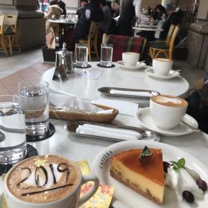 お正月限定のカフェラテ