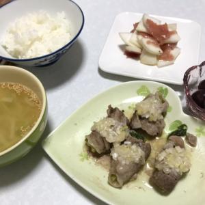 かぶ祭!葉の豚肉巻きと生ハムサラダ