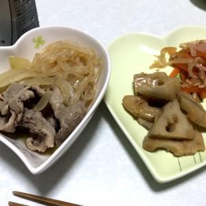 豚肉の時雨煮ともやし中華サラダ