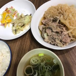 豚のしぐれ煮とパプリカのマヨサラダ
