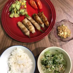 オクラと長芋の肉巻き&夏のアボカドサラダ