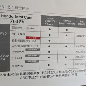 ホンダ新型ヴェゼルの「Honda Total Careプレミアム」の料金体系。すべて使うと最低月額1,870円掛かるそうです。