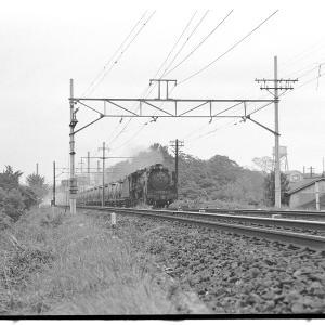 板橋付近でD51列車を撮る  昭和43年9月赤羽線撮影日記