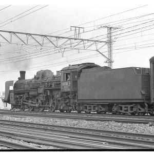 常磐線経由成田行きC57列車を撮る  昭和43年9月鉄道撮影日記