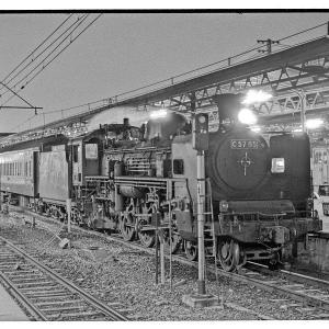 成田行きC57客レ夜の発車  昭和43年9月上野駅撮影日記(2)