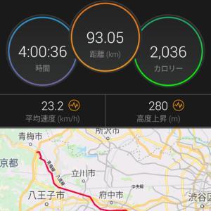 90km Bike 4時間切り