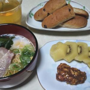 8月22日の食事と体重(カレイの煮付け)