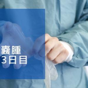 卵巣嚢腫入院3日目 ~手術後半~