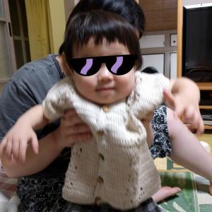 伯母から手作りチョッキ☆