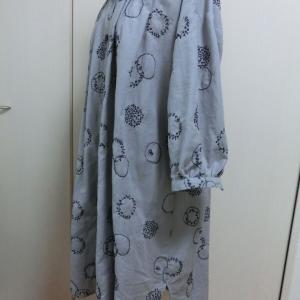 綿麻の刺繍布チュニック