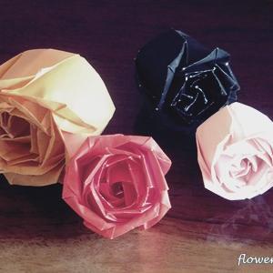中一隆さんの折り紙バラ